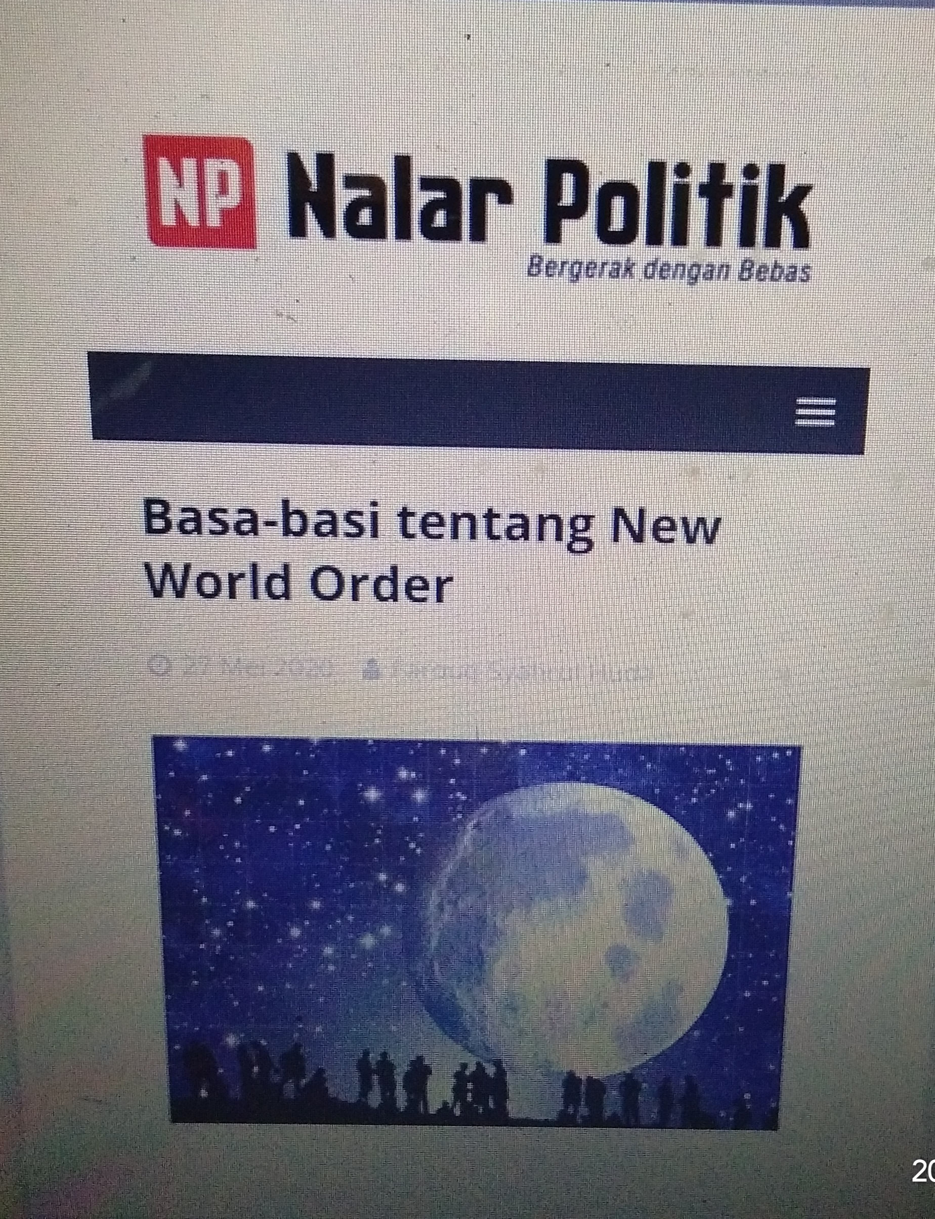 Basa-basi tentang New World Order